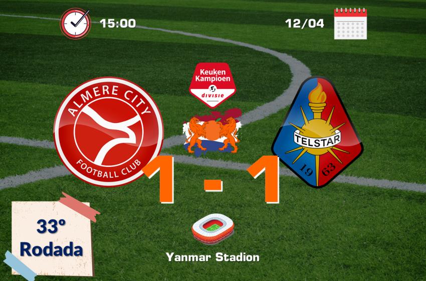 Almere City FC tropeça em casa e ver De Graafschap abrir vantagem na segunda colocação