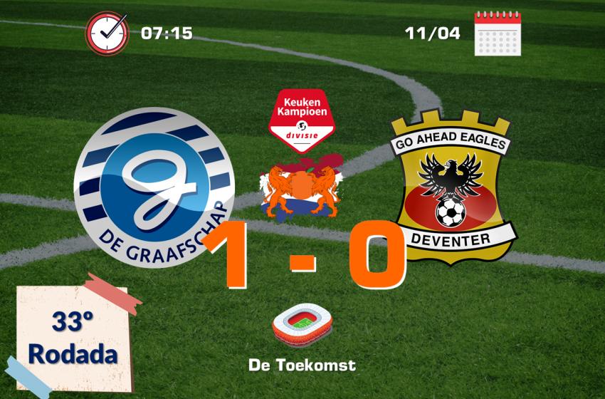 Em jogo complicado, Jesse Schuurman salva De Graafschap de um tropeço em casa diante do Go Ahead Eagles