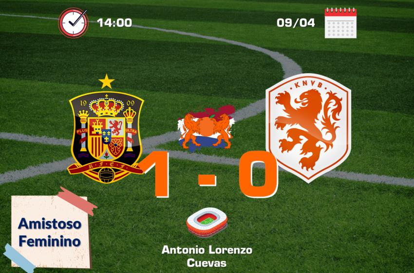 Holanda joga mal e perde para a Espanha por 1 a 0