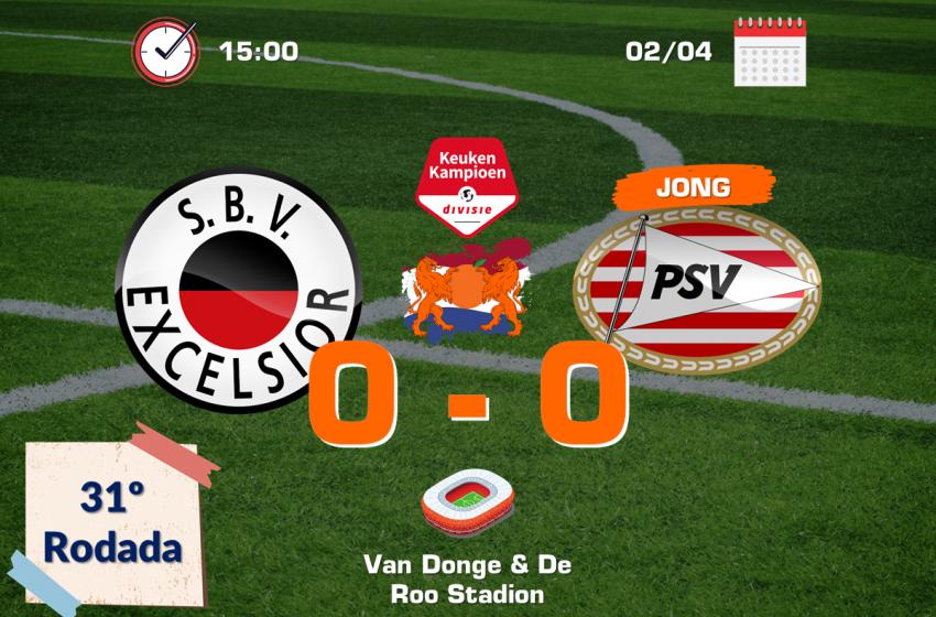 Em Roterdã, Excelsior e Jong PSV ficam no 0 a 0