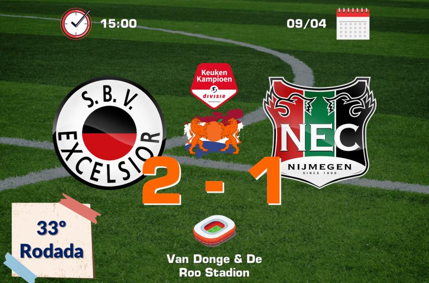 Joël Zwarts brilha e guia SBV Excelsior rumo a vitória por 2 a 1 diante do NEC Nijmegen