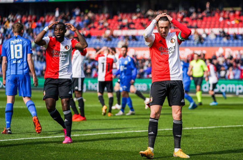 Com um a menos, Feyenoord apenas empata em casa contra o Vitesse