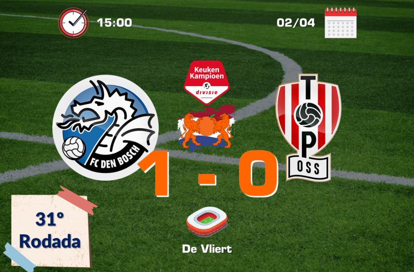 Jizz Hornkamp garante vitória do FC Den Bosch diante do TOP Oss