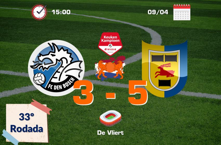 SC Cambuur sofre, mas vence FC Den Bosch por 5 a 3