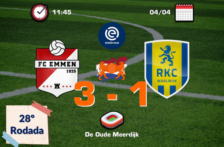 FC Emmen ganha do RKC Waalwijk pela primeira vez em jogos válidos pela Eredivisie
