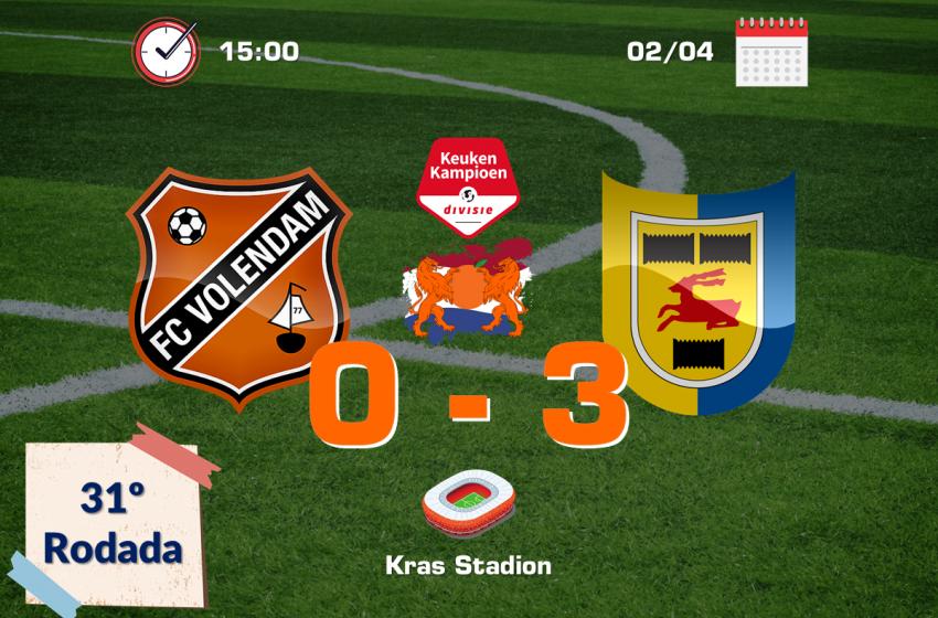 Robert Mühren e Michael Breij garantem vitória do SC Cambuur diante do FC Volendam por 3 a 0
