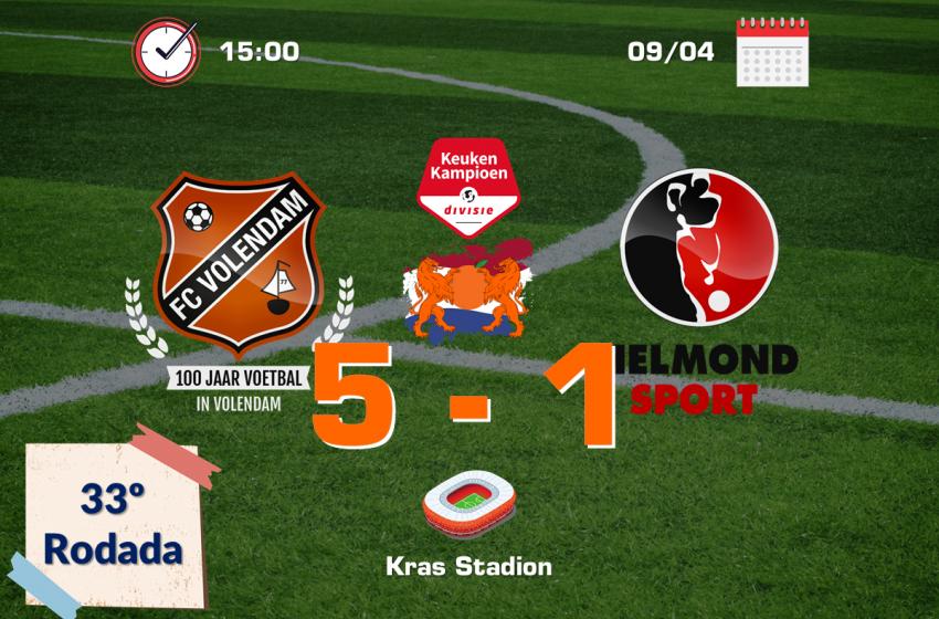 Com dois gols de Samuele Mulattieri, FC Volendam supera Helmond Sport de virada e vence por 5 a 1