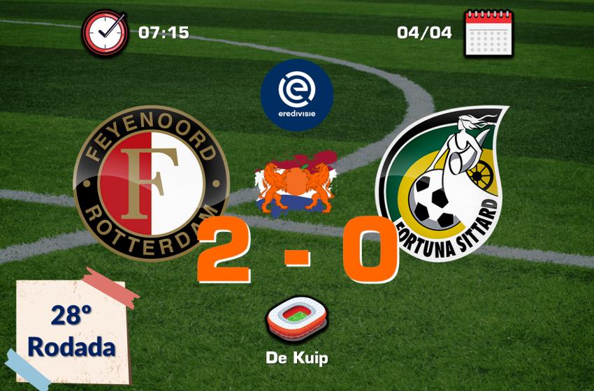 Feyenoord bate Fortuna Sittard por 2 a 0