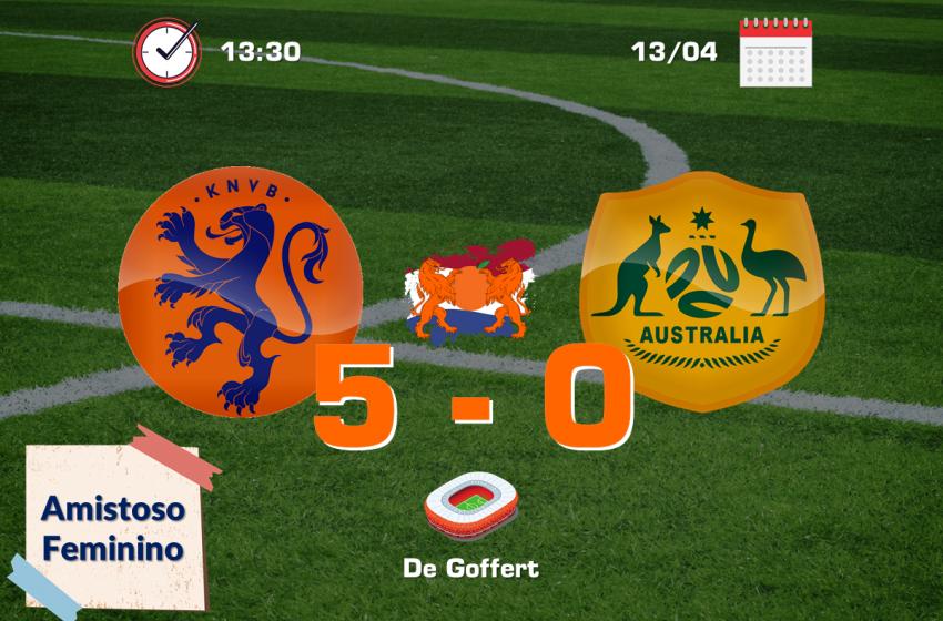 Holanda volta a jogar bem e goleia Austrália por 5 a 0