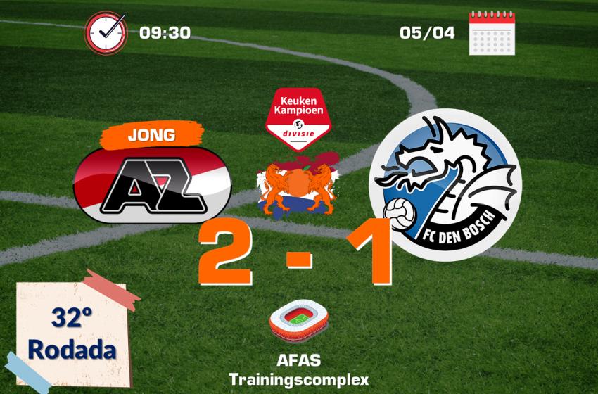 Graças a um pênalti nos acréscimos, Jong AZ Alkmaar bate FC Den Bosch por 2 a 1