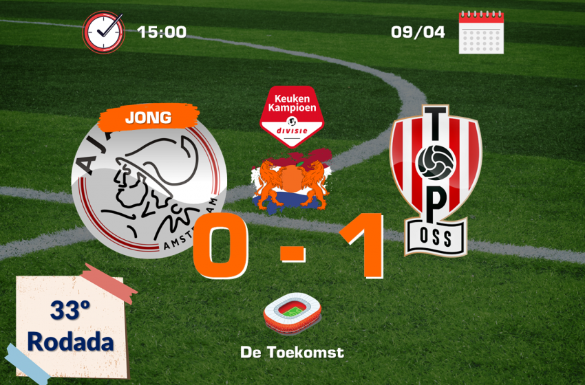 TOP Oss vence Jong Ajax pela primeira vez na história jogando em Amsterdã