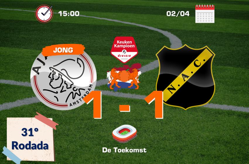 Jong Ajax e NAC Breda ficam no empate em 1 a 1