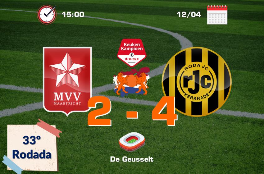 Roda JC Kerkrade bate MVV Maastricht de virada no De Geusselt e quebra tabu de 24 anos