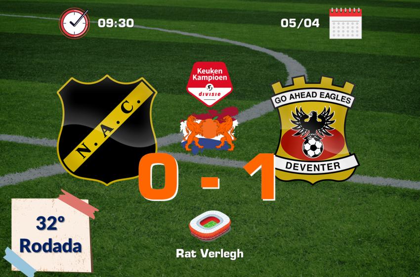 Jeroen Veldmate garante vitória do Go Ahead Eagles em cima do NAC Breda por 1 a 0