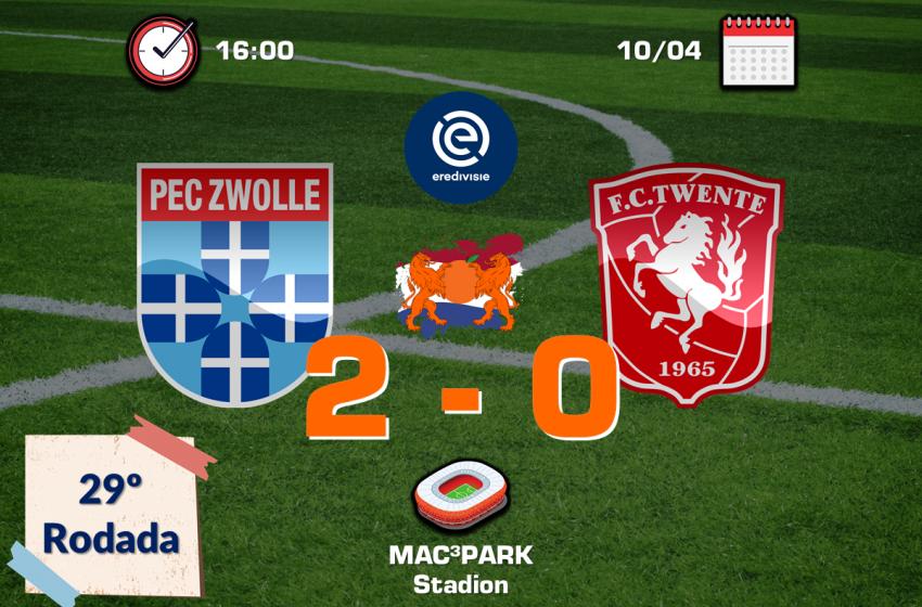 Virgil Misidjan garante vitória do PEC Zwolle em cima do FC Twente por 1 a 0