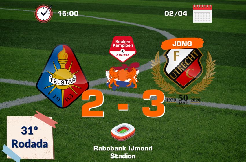 SC Telstar é surpreendido em casa pelo Jong FC Utrecht