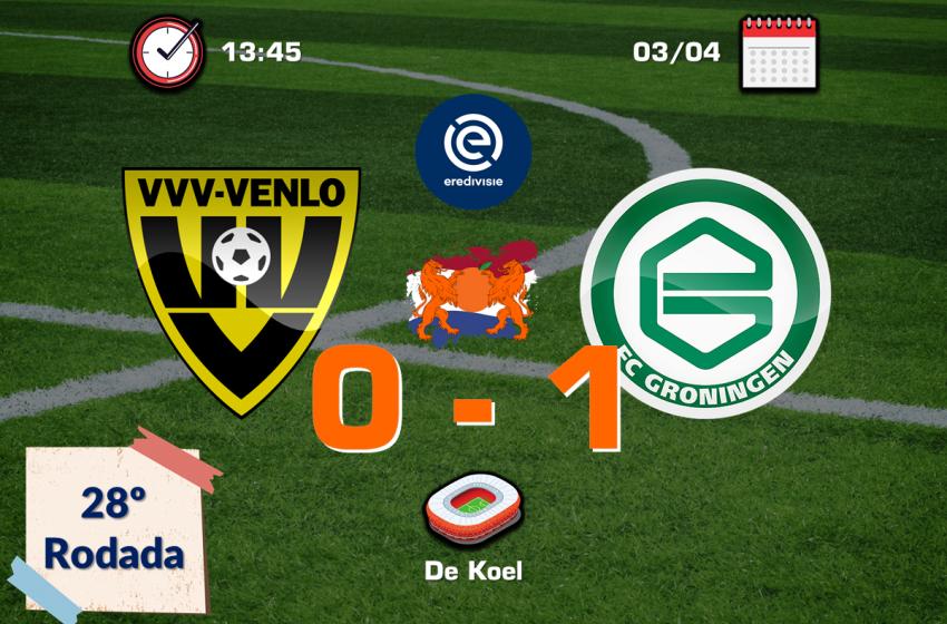 Mo el Hankouri acerta lindo chute e garante vitória do FC Groningen diante do VVV-Venlo por 1 a 0