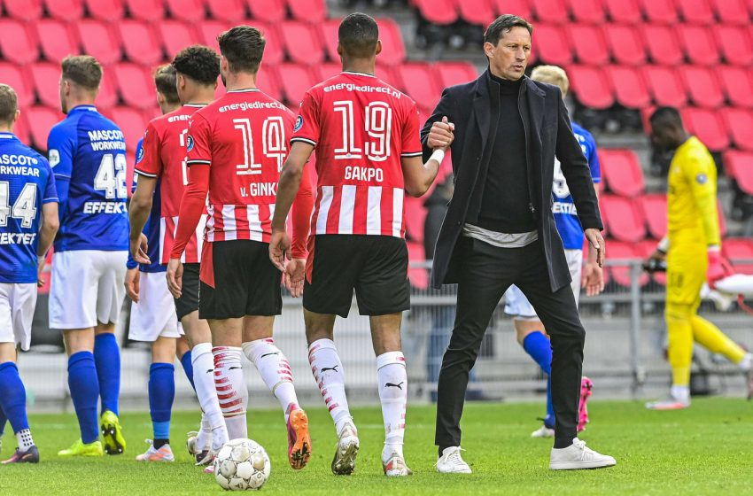 Roger Schmidt demonstra insatisfação com desempenho do PSV diante do SC Heerenveen