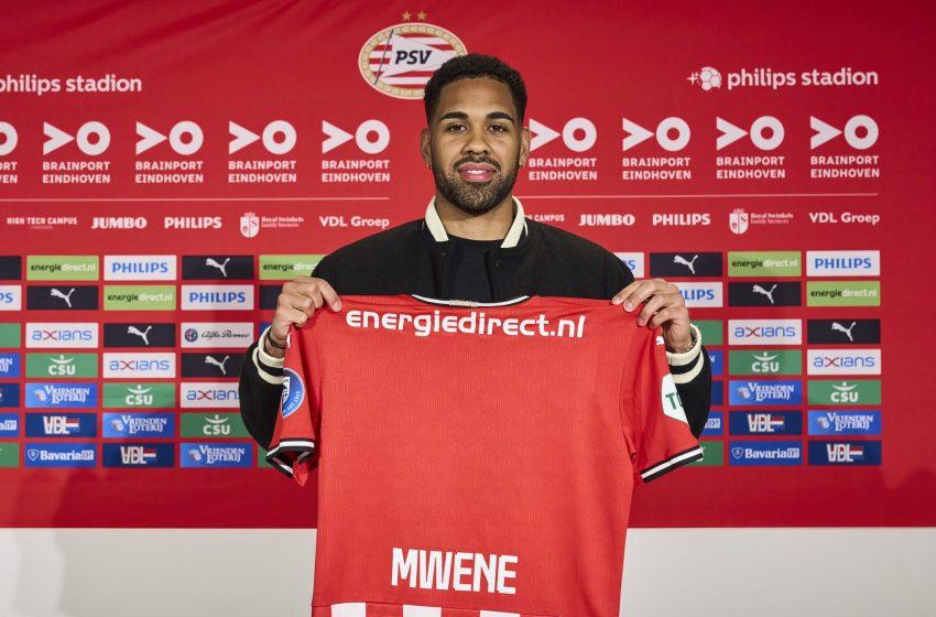 Phillipp Mwene é o terceiro reforço do PSV para a próxima temporada