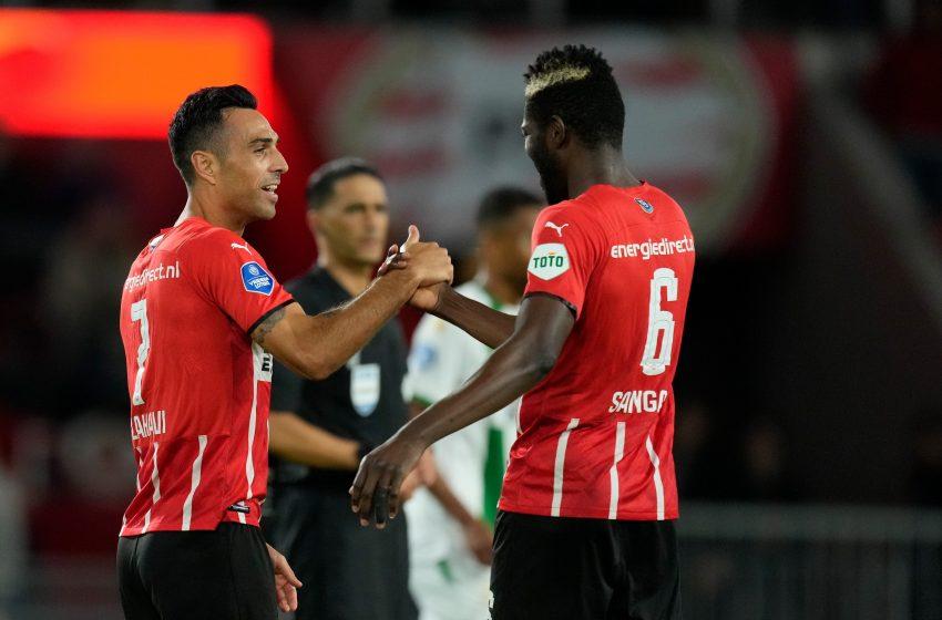 André Ramalho marca duas vezes e o PSV bate o FC Groningen por 5 a 2