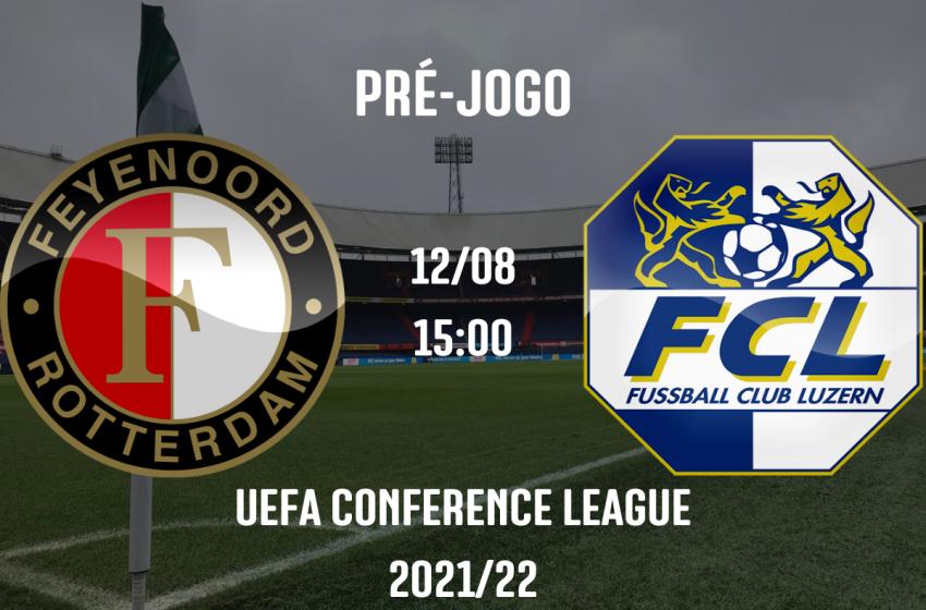 Feyenoord recebe FC Luzern para garantir vaga na próxima fase da UEFA Conference League