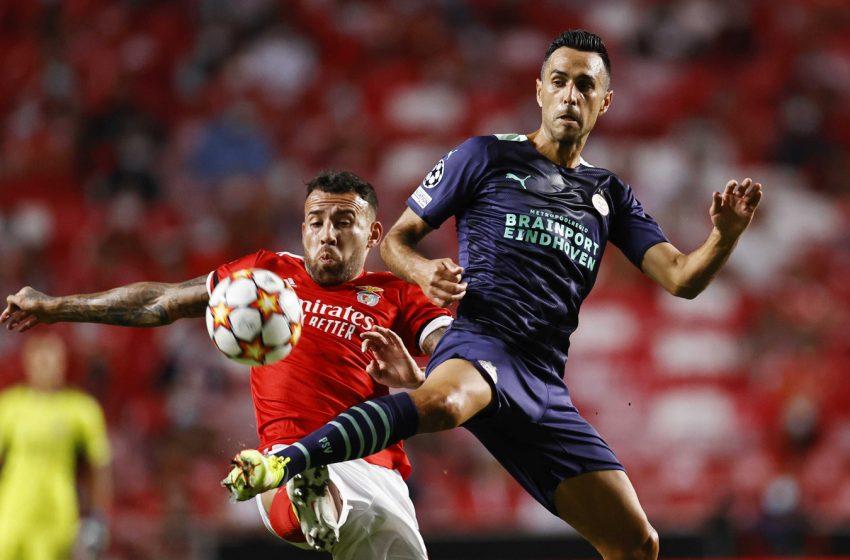 PSV conhece primeira derrota na temporada, mas segue vive no confronto contra o Benfica