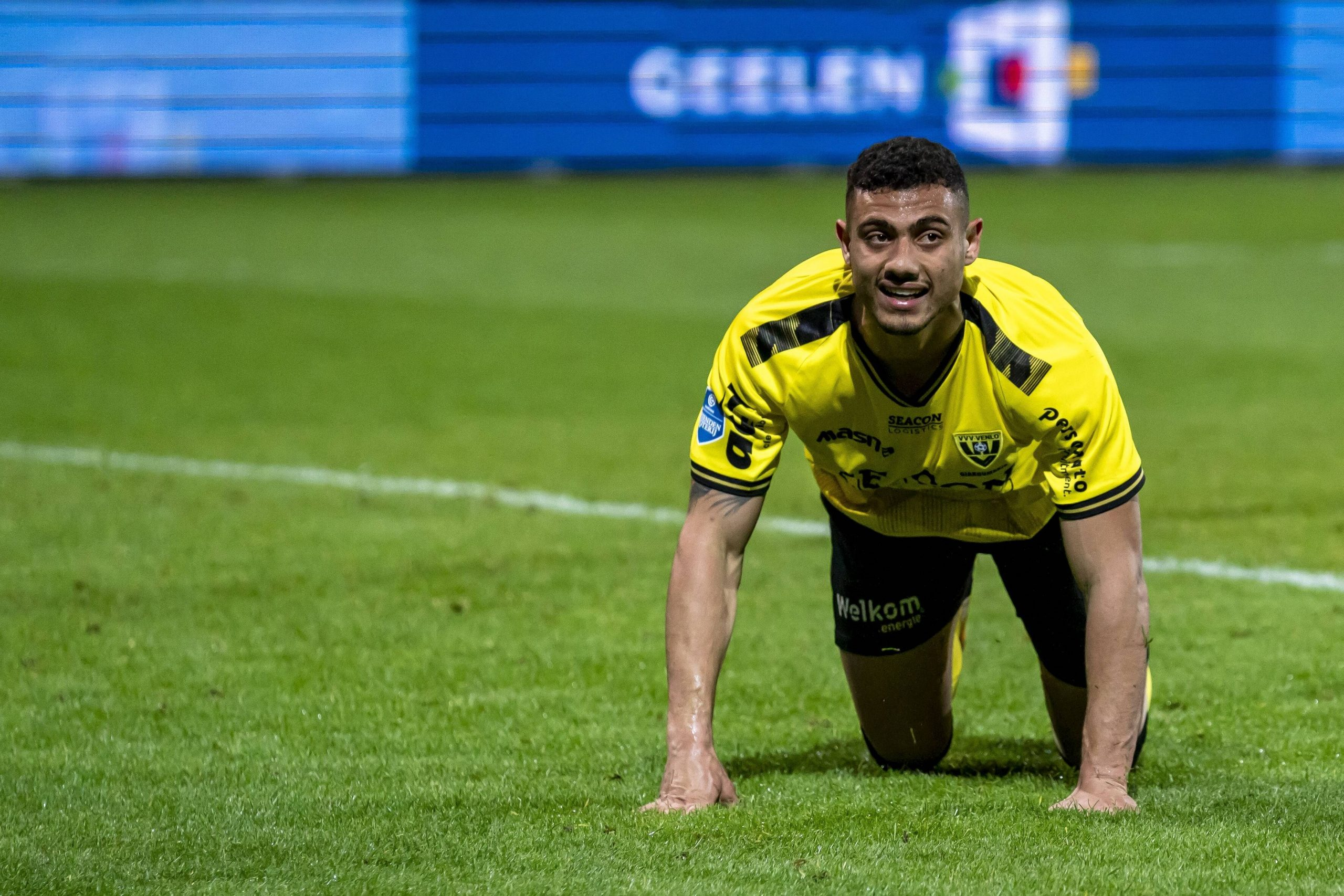 VENLO, Netherlands, 08-05-2021, football, , Dutch eredivisie, season 2020 / 2021, VVV Venlo player Georgios Giakoumakis during the match VVV – RKC VVV – RKC PUBLICATIONxNOTxINxNED x11718818x Copyright: