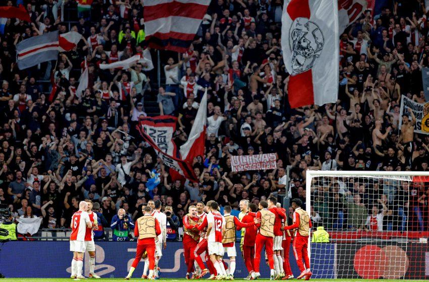 O Ajax não contará com torcida na Turquia em jogo contra o Beşiktaş