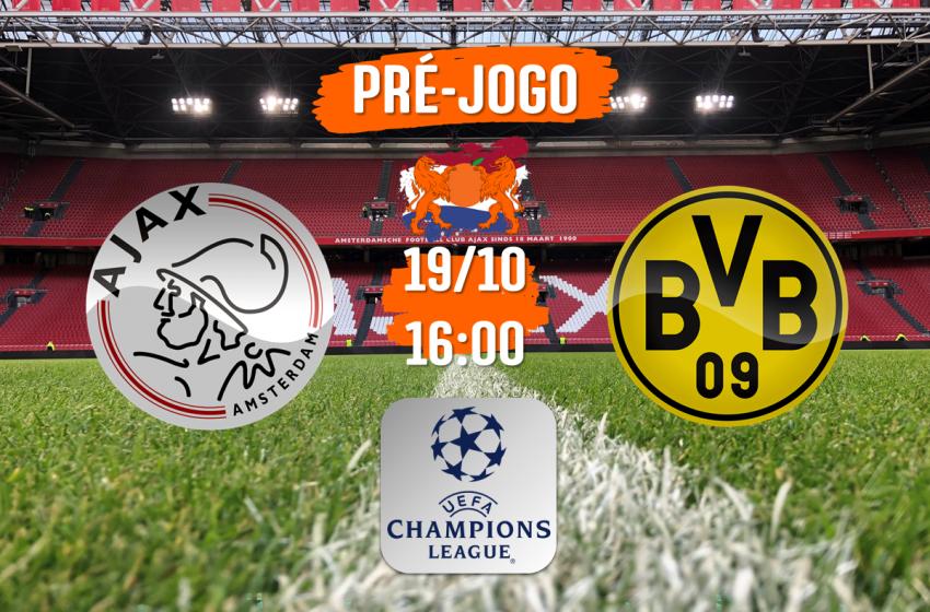 Ajax e Borussia Dortmund se encontram nesta terça-feira, em busca da liderança do grupo C na UEFA Champions League