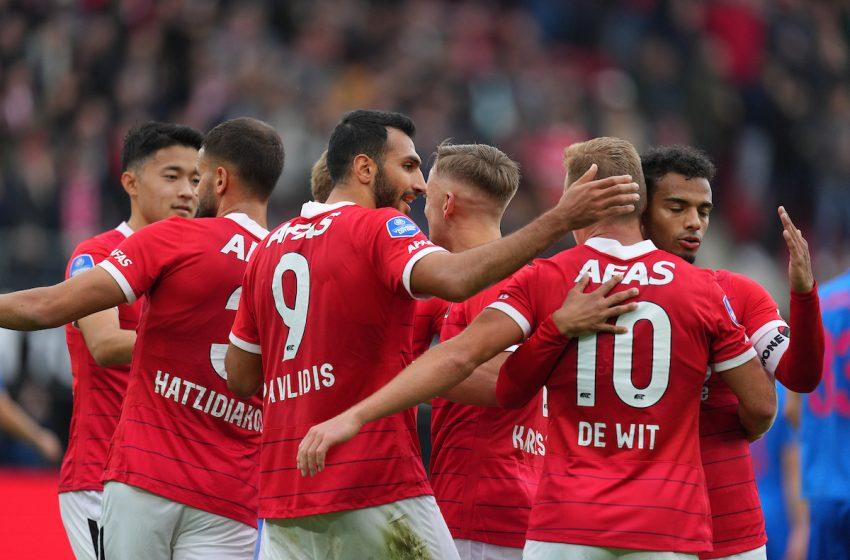 AZ Alkmaar não toma conhecimento e passa o carro em cima do FC Utrecht