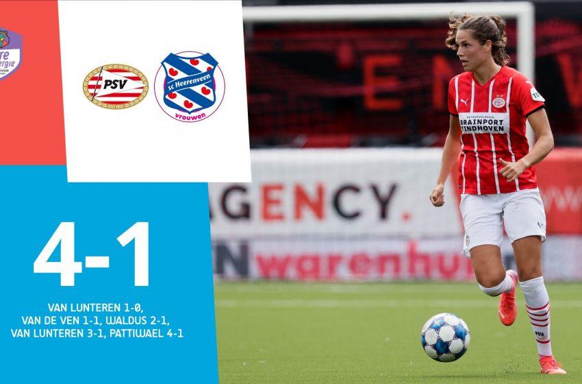 Desiree van Lunteren brilha e PSV vence SC Heerenveen por 4 a 1