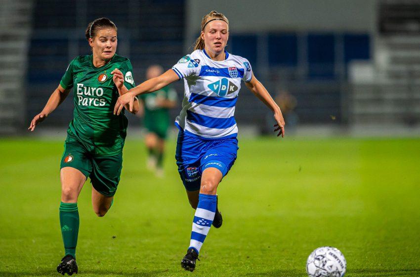 PEC Zwolle bate Feyenoord em casa e segue líder da Eredivisie Feminina
