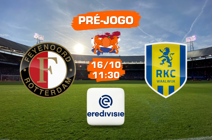 Feyenoord e RKC Waalwijk abrem a 9ª rodada da Eredivisie 2021/22