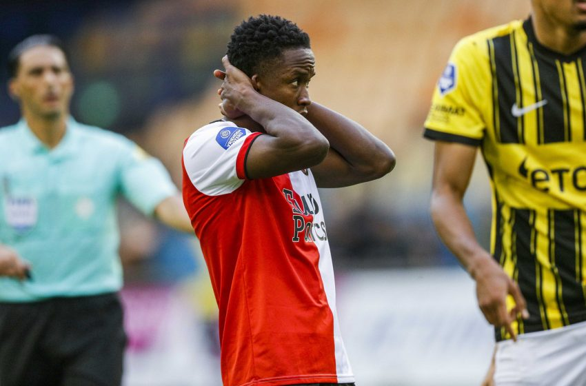 Luis Sinisterra é desfalque para o Feyenoord contra o RKC Waalwijk