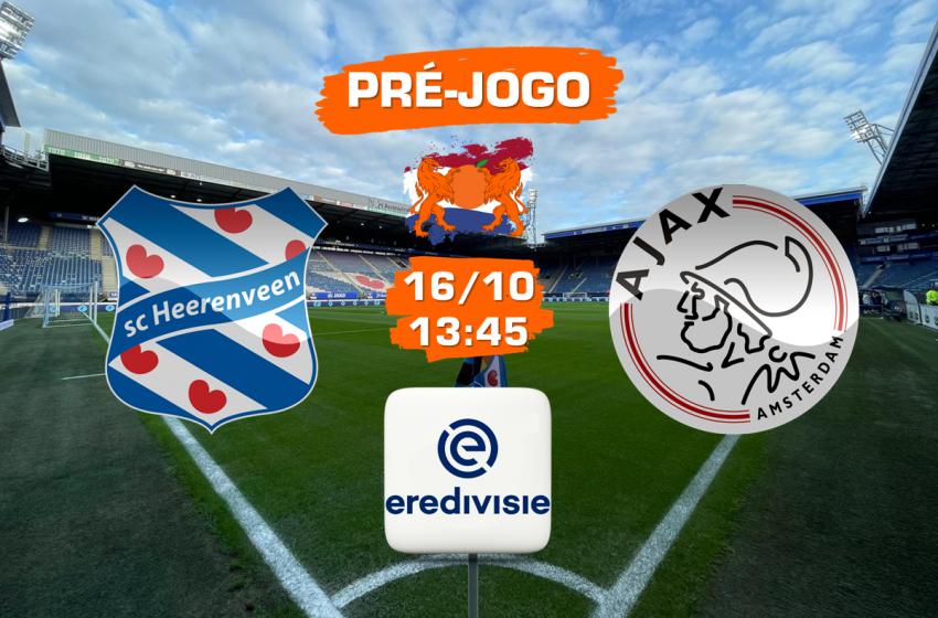 SC Heerenveen recebe o Ajax nesse sábado